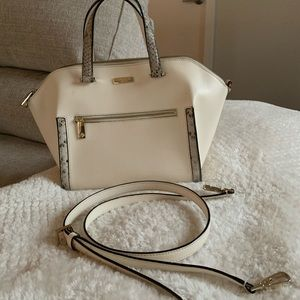Kate Spade Parliament Savannah Bag White Snakeskin